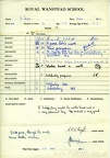 School Report of David Dyer - Spring Term 1963