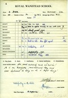 School Report of David Dyer - Summer Term 1962