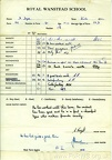 School Report of David Dyer - Winter Term 1962