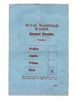 RWS General Election Voting Card