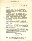 Letter Regarding the Easter Holiday 1960