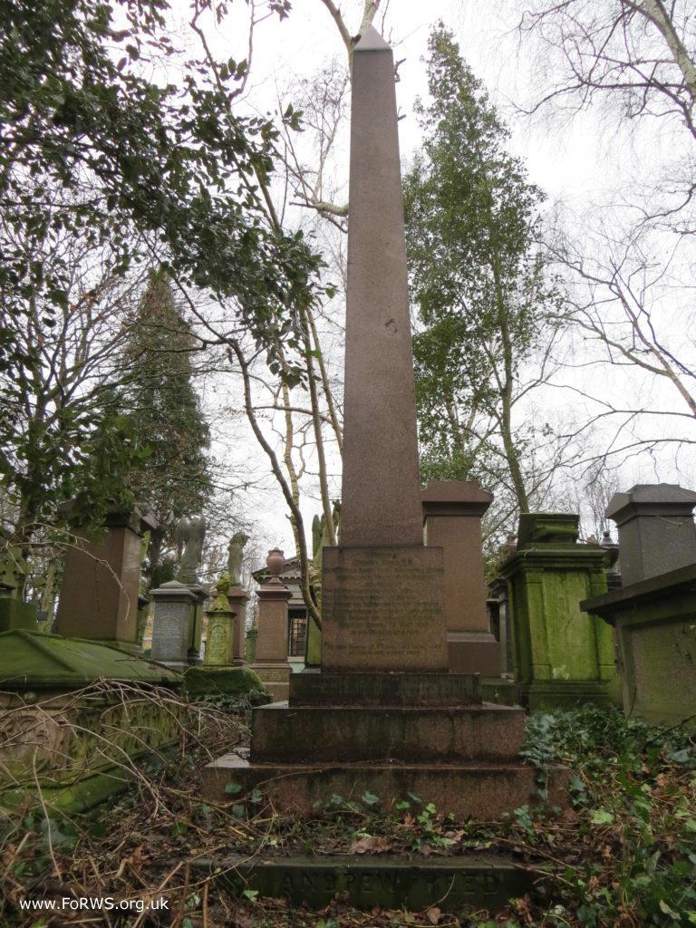 Andrew Reed's Memorial Obelisk (FoRWS)